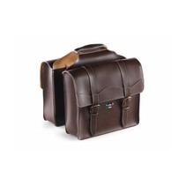 Double Pannier 'City' Skai-Leather Dark-Brown