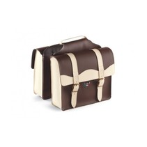 Double Pannier 'City' Skai-Leather 2-Tone Brown / Cream