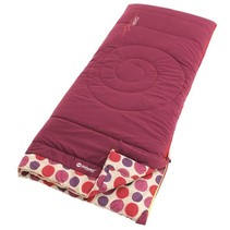 Circles child's sleeping bag - berry