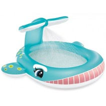 Whale swimming pool with water sprinkler