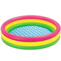 Colorful inflatable swimming pool