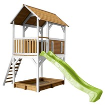 Pumba Play Tower Brown / white - Lime (green Slide)