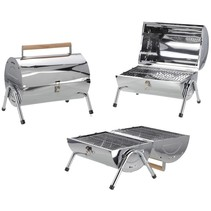 Cylinder Barbecue with double grill surface