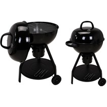 Luxury charcoal barbecue with thermometer