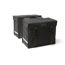 Double pannier Canvasbag Camping - black - 66 liters