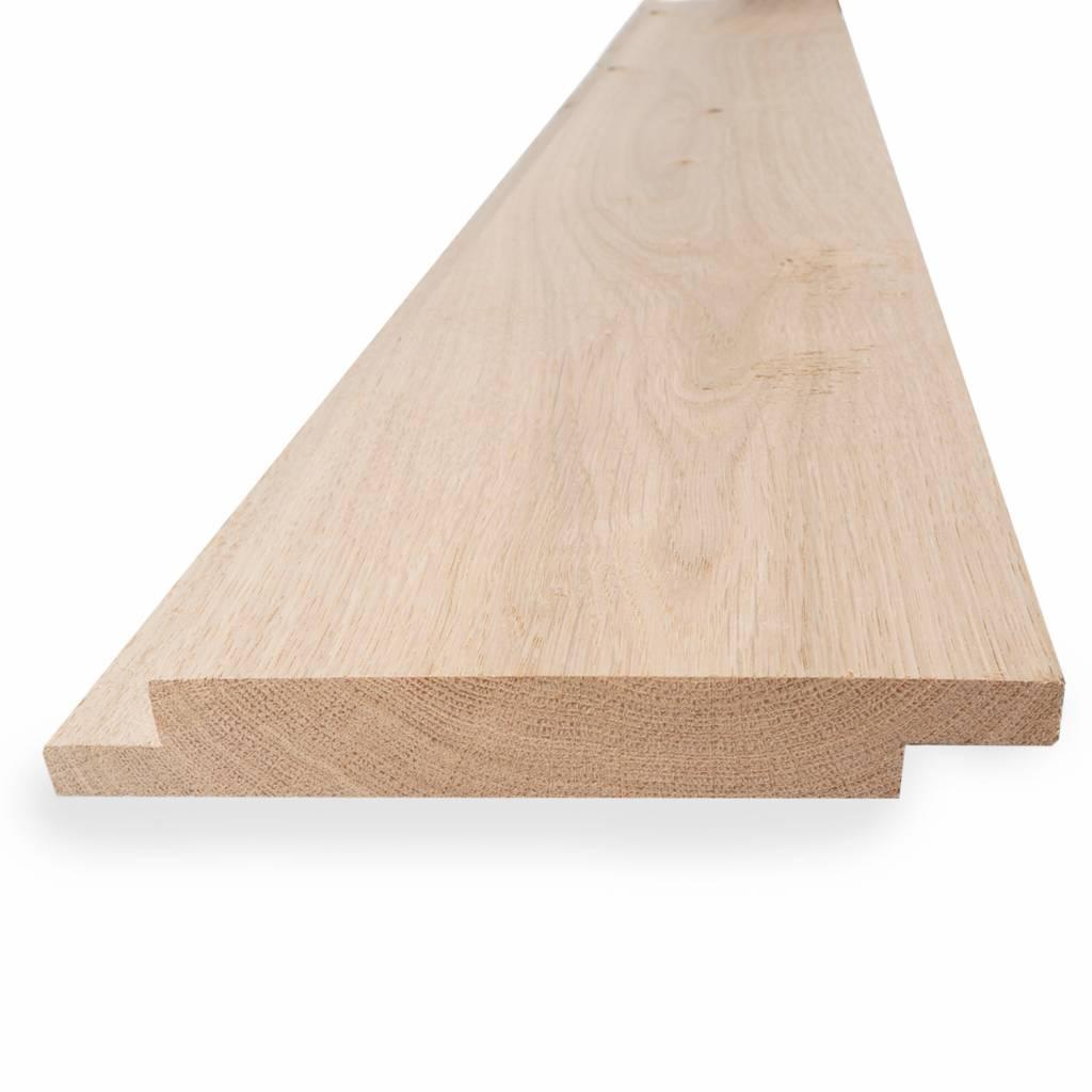 Eiken Sponningdeel 2-zijdig 28x130mm - Geschaafd en aangedroogd Eikenhout