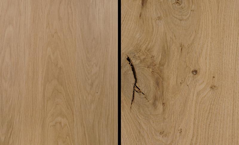 Eikenhout detailfoto Rustiek versus Foutvrij