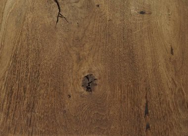 Eiken tafelblad rustiek geborsteld en gerookt