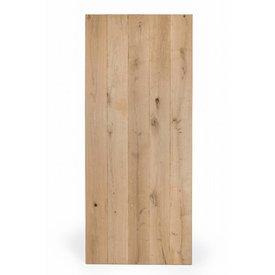 Eiken tafelblad rustiek VINTAGE 80x120x4 cm