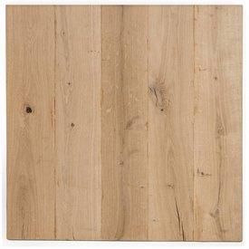 Eiken tafelblad rustiek VINTAGE 100x100x4 cm