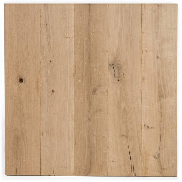 Eiken tafelblad rustiek VINTAGE 70x70x4 cm