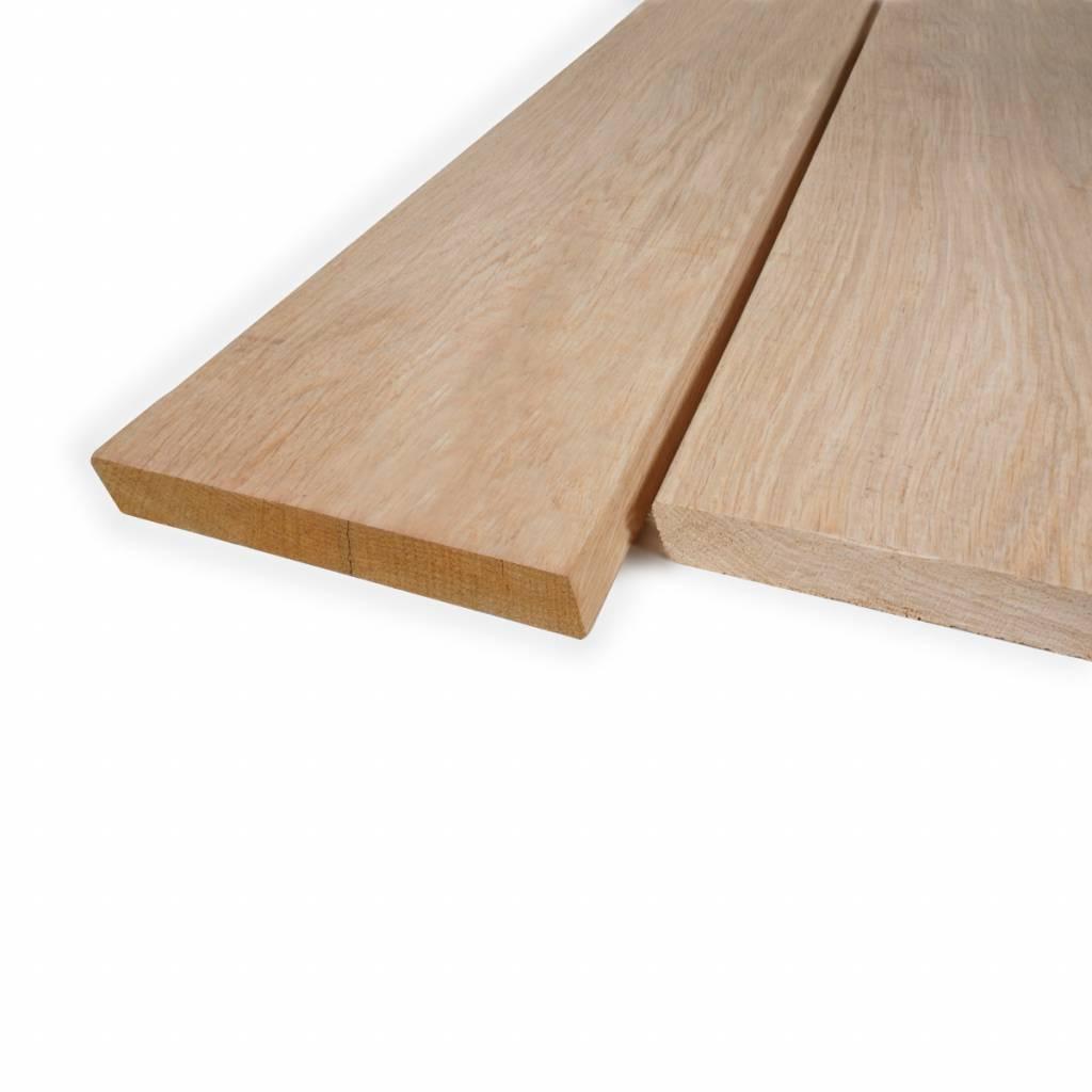 Eiken rhombus deel - profiel - plank 28x143 mm -  Geschaafd en aangedroogd Eikenhout