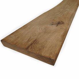 Oude eiken plank 28x190mm Geschaafd, Opgeborsteld & Gerookt - vanaf 100 cm