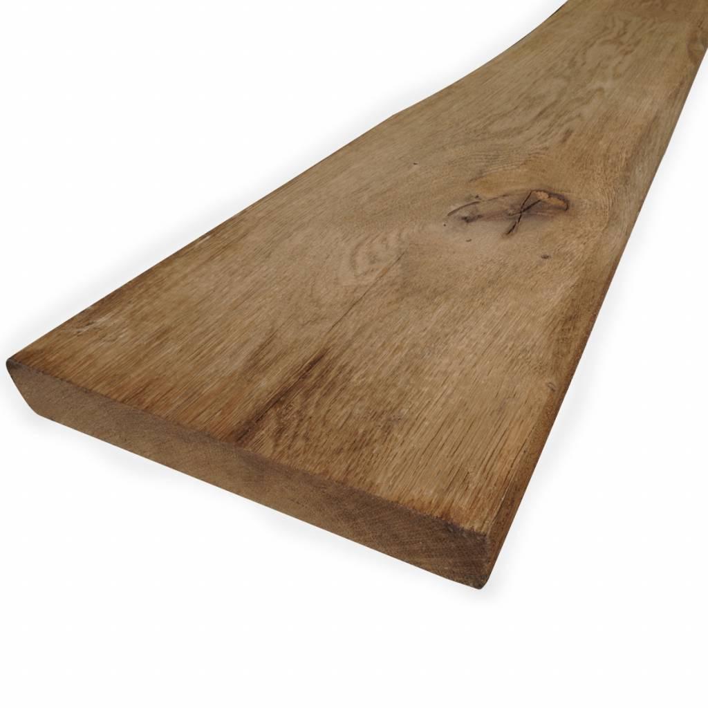 Oude eiken plank 28x190mm Geschaafd, Opgeborsteld & Gerookt (verouderd) - vanaf 100 cm
