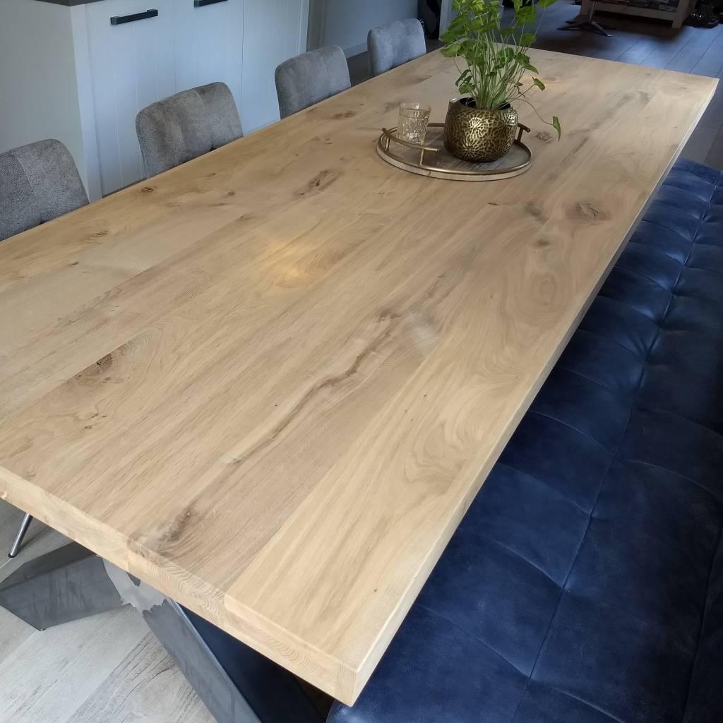 Favoriete Eiken tafelblad rustiek 6 cm dik OP MAAT - Ambachtelijk AN98