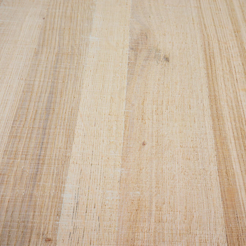 Eiken blad rustiek 4 cm dik fijnbezaagd / ruw (1 plank) OP MAAT - Meubelblad / paneel 8-12% kd Europees eikenhout