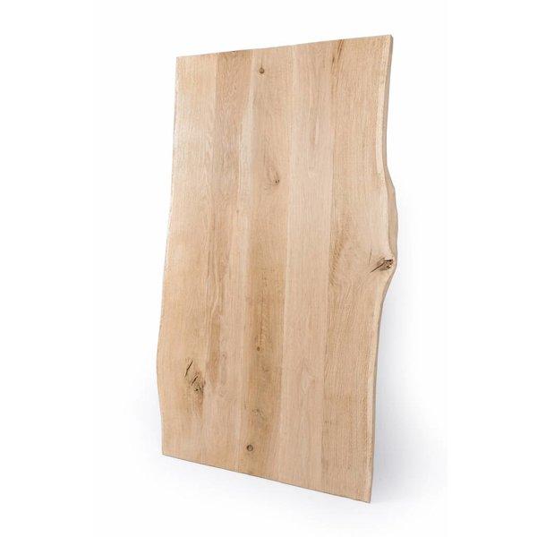 Eiken boomstam tafelblad rustiek 90x180x4 cm