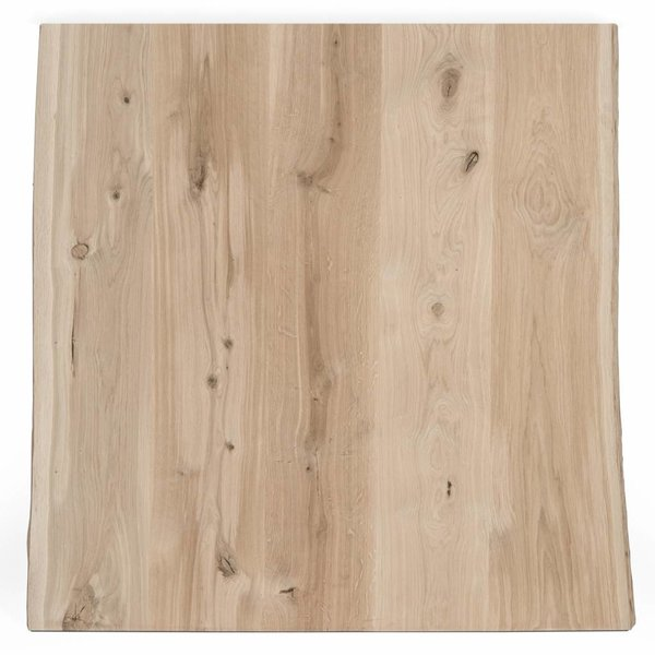 Eiken boomstam tafelblad rustiek 60x60x4 cm