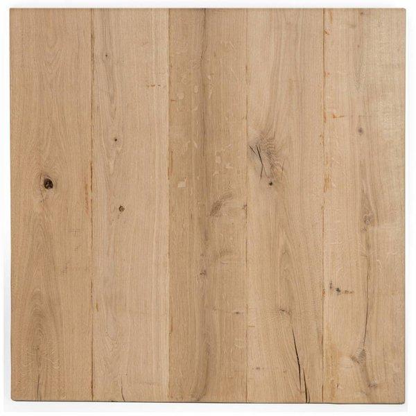 Eiken tafelblad rustiek VINTAGE 50x50x4 cm