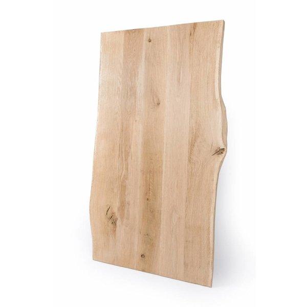 Eiken boomstam tafelblad rustiek VINTAGE 100x3 cm - van 200 tot 240 cm