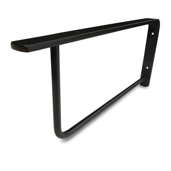 Wastafelbeugel staal rechthoek elegant - 45x20 cm - SET (2 stuks) - incl. coating