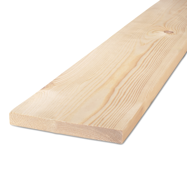 Vuren Plank 22x100mm ruw - C24 klasse FSC