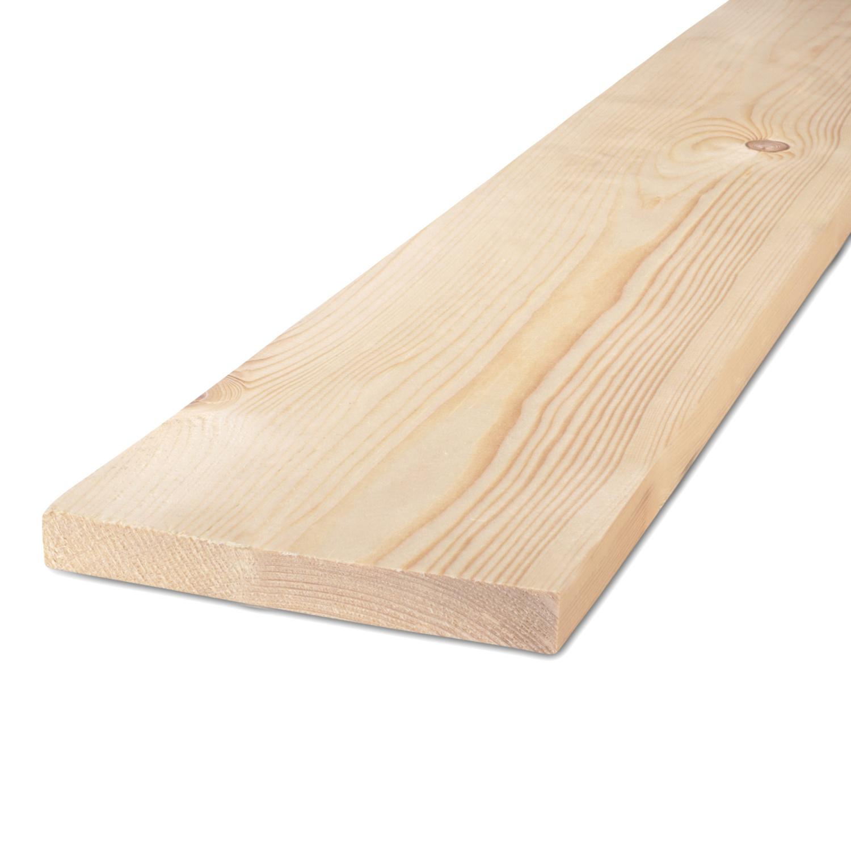 Vuren Plank 22x125mm ruw - C24 klasse FSC