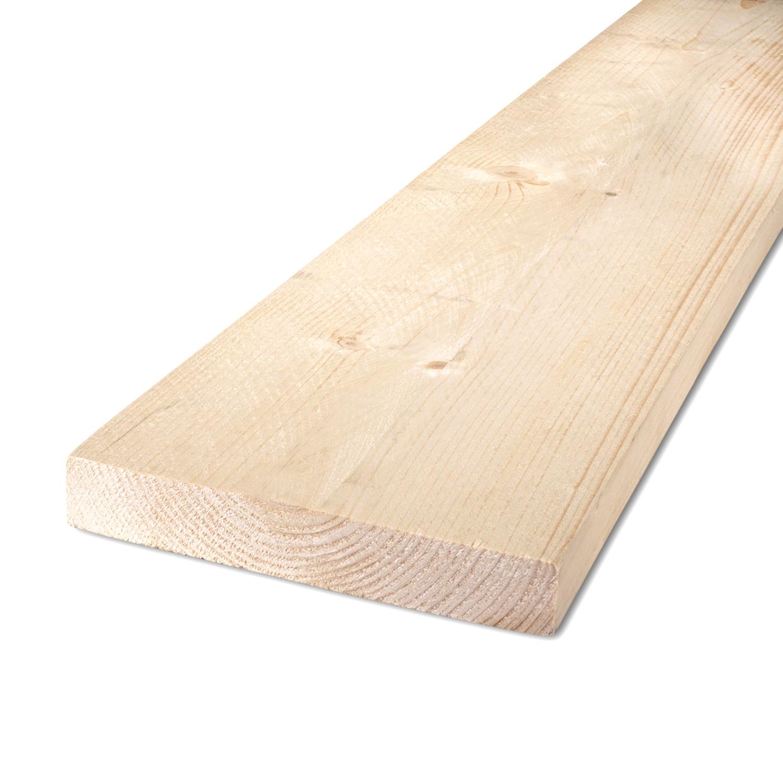 Vuren Plank 25x125mm ruw - C24 klasse FSC