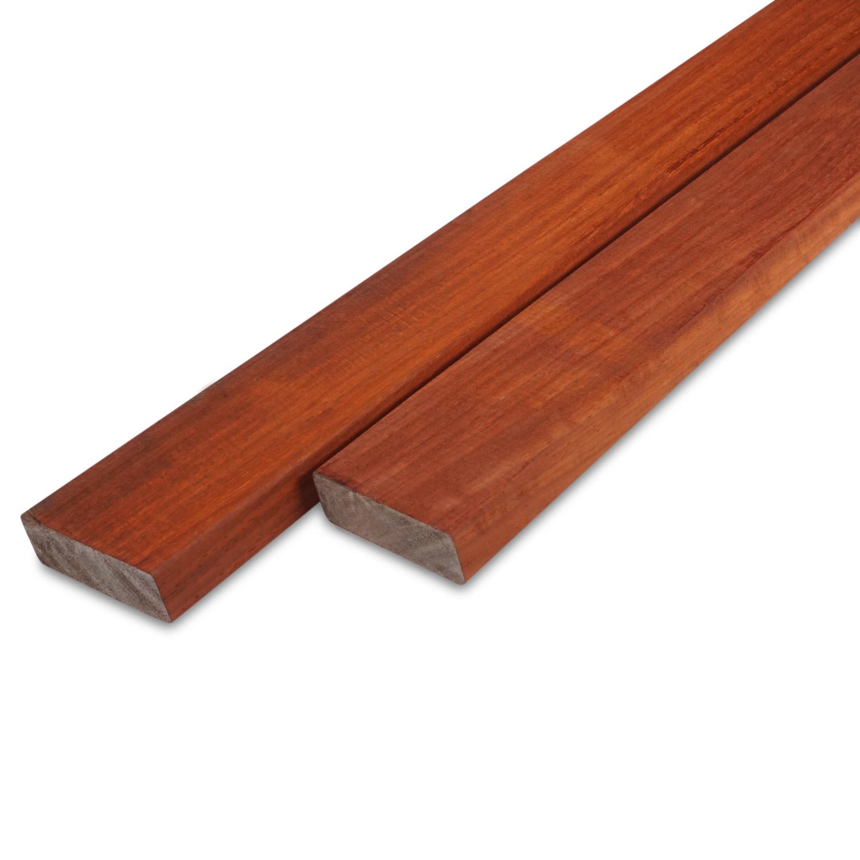 Padouk rhombus deel - profiel - plank 21x68mm geschaafd - ad (aangedroogd) - tropisch hardhout