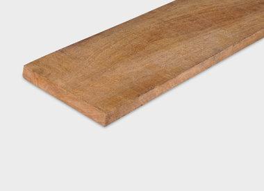 Hardhout planken fijnbezaagd (ruw)