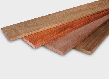 Alle hardhout planken