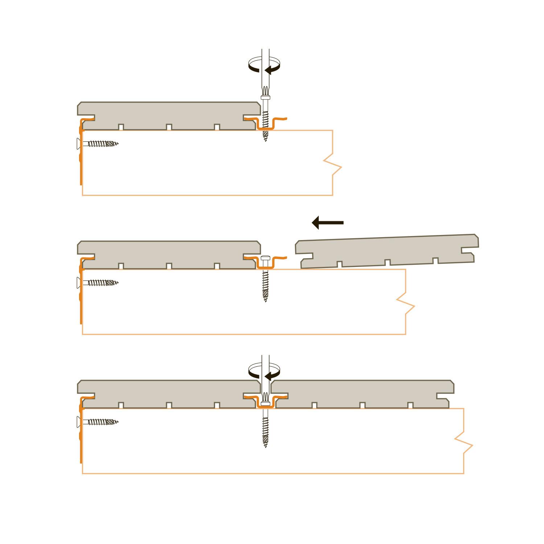 B-fix - BFIX ONE - montageclips RVS - Inox - blinde bevestiging - 100 stuks