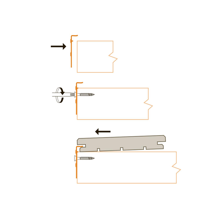 B-fix - BFIX BORDER - montageclips RVS - Inox - blinde bevestiging - randmontage - 50 stuks