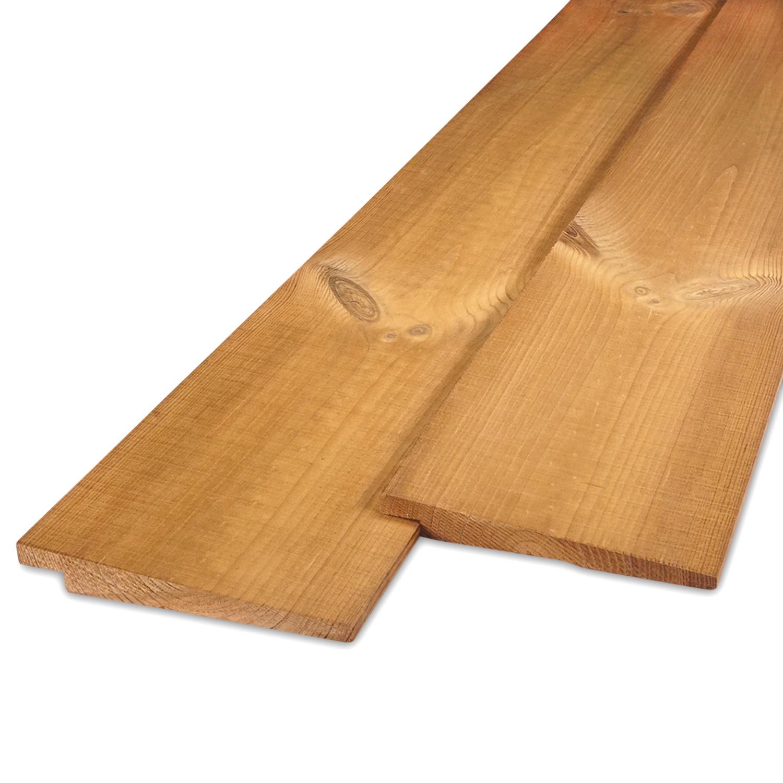 Thermowood grenen Zweeds rabat 8-22x130mm - zichtzijde fijnbezaagd (ruw) - kunstmatig gedroogd (kd 8-12%) - thermisch gemodificeerd grenen hout (thermohout)