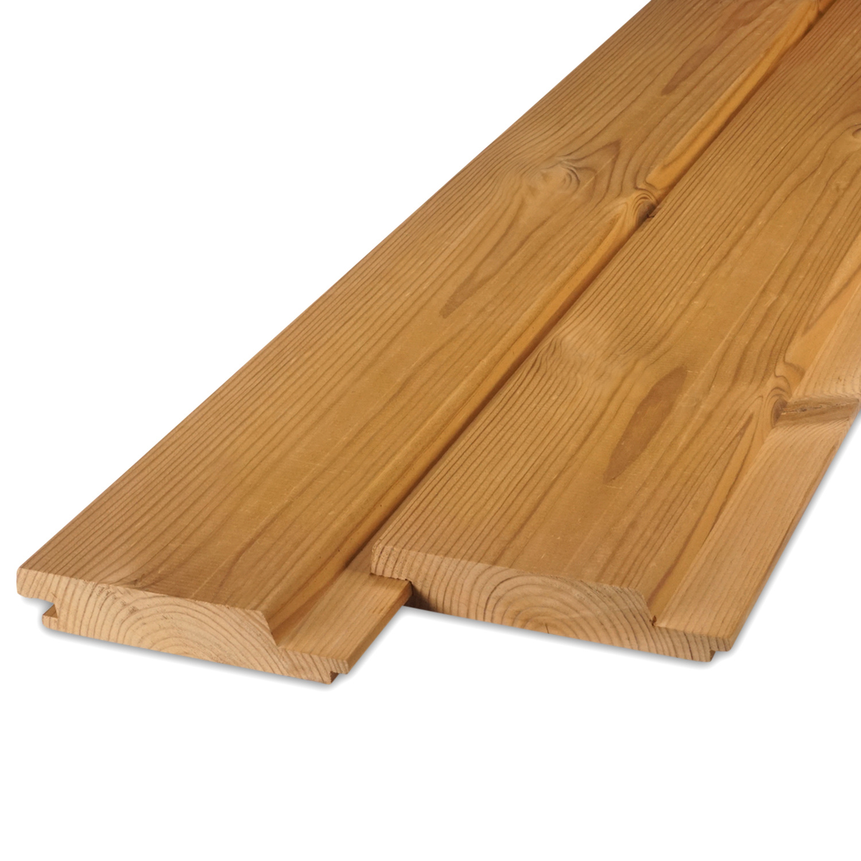 Thermowood grenen channelsiding rabat 28x143mm (werkend 125mm) - geschaafd - kunstmatig gedroogd (kd 8-12%) - thermisch gemodificeerd grenen hout (thermohout)