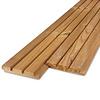 Thermowood grenen Deens rabat blokprofiel - 21x125mm - geschaafd - kunstmatig gedroogd (kd 8-12%) - thermisch gemodificeerd grenen hout (thermohout)