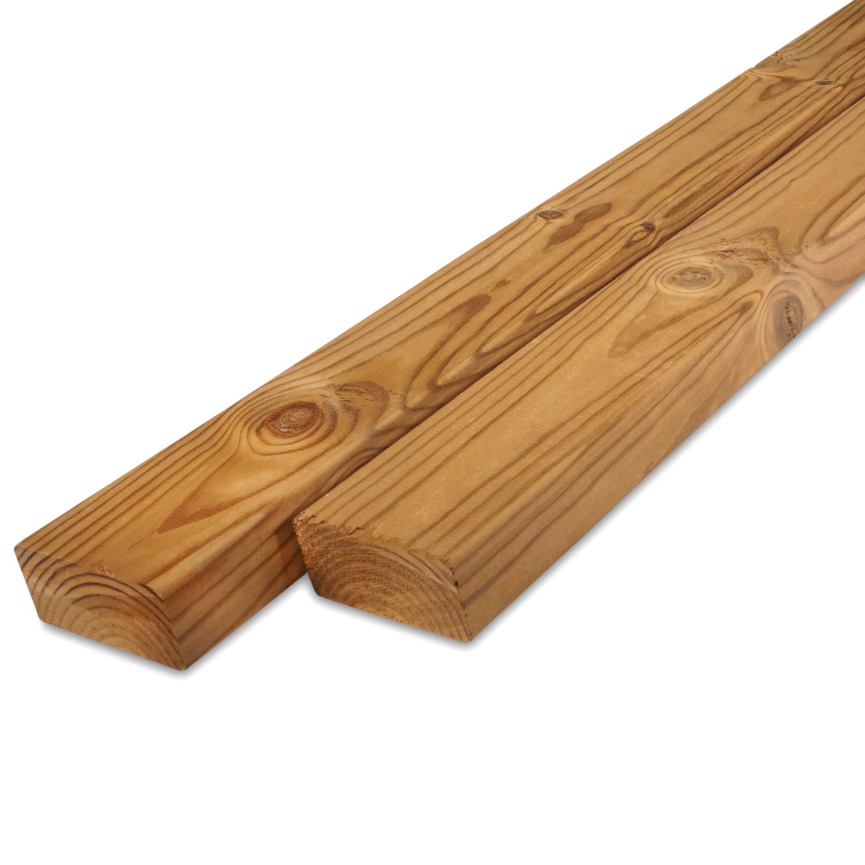 Thermowood grenen rhombus deel - profiel - plank 28x68mm - geschaafd - kunstmatig gedroogd (kd 8-12%) - thermisch gemodificeerd grenen hout (thermohout)