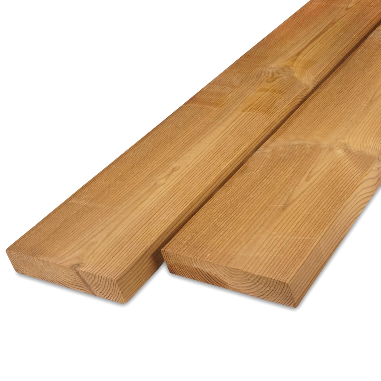 Thermowood grenen rhombus deel - profiel - plank 28x143mm - geschaafd - kunstmatig gedroogd (kd 8-12%) - thermisch gemodificeerd grenen hout (thermohout)