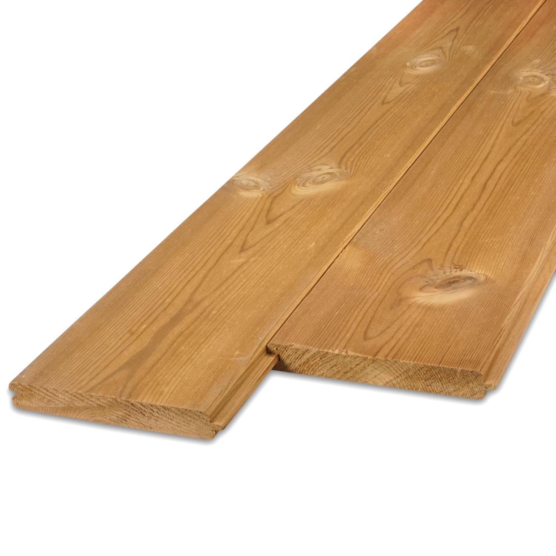 Thermowood grenen vellingdeel (T&G) 21x143 mm - geschaafd - kunstmatig gedroogd (kd 8-12%) - thermisch gemodificeerd grenen hout (thermohout)