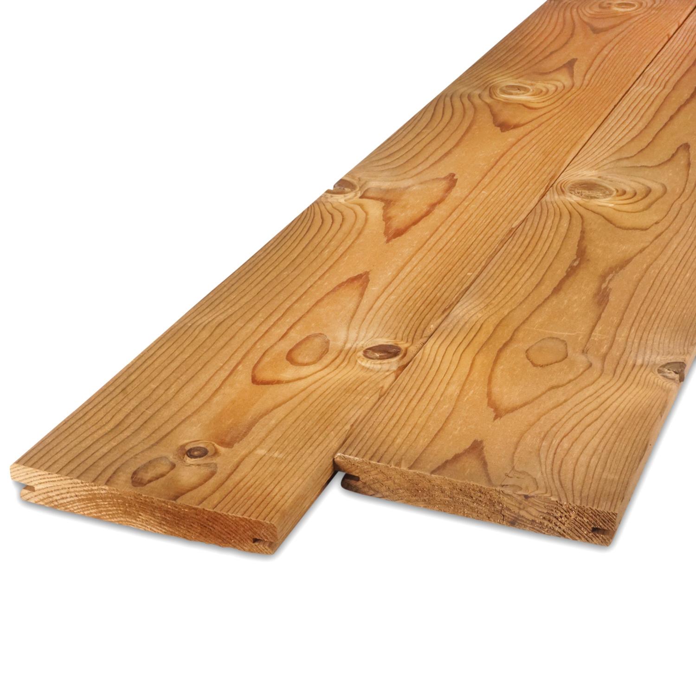 Thermowood grenen B-fix (blinde bevestiging) classic vlonder / rabat deel 28x143mm geschaafd - kunstmatig gedroogd (kd 8-12%) - thermisch gemodificeerd grenen hout (thermohout)