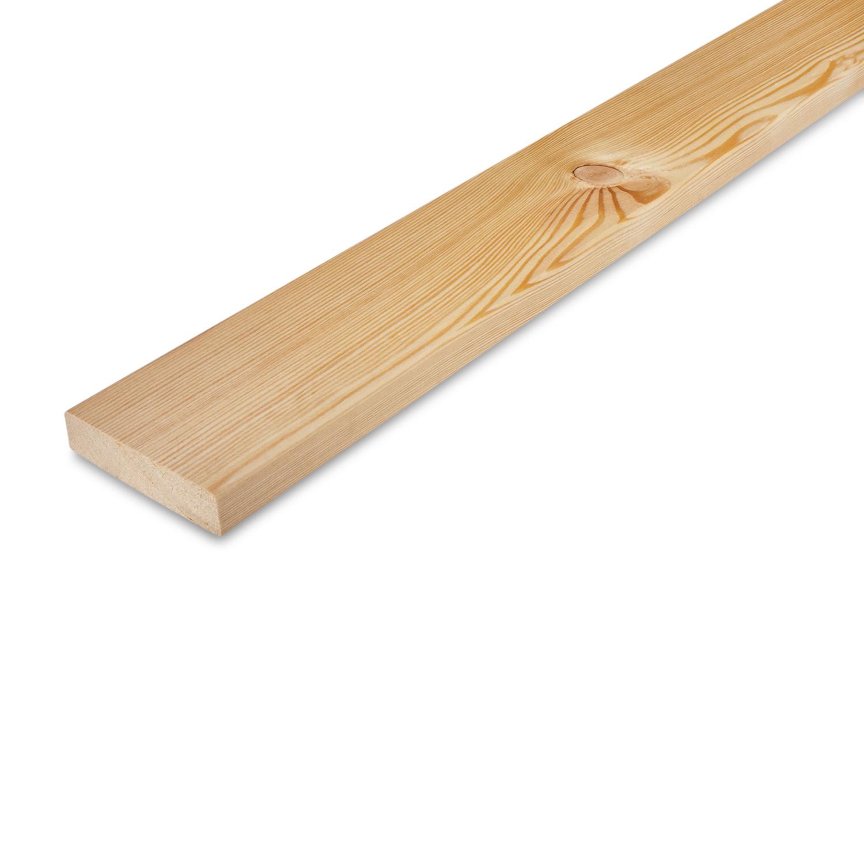 Siberisch lariks plank 28x90mm - geschaafd - kunstmatig gedroogd (kd 18-20%)