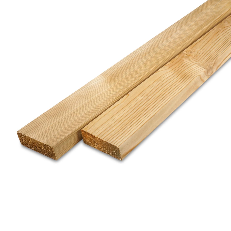 Siberisch lariks rhombus deel - profiel - plank 21x70mm -  Geschaafd en gedroogd  (kd 18-20%)