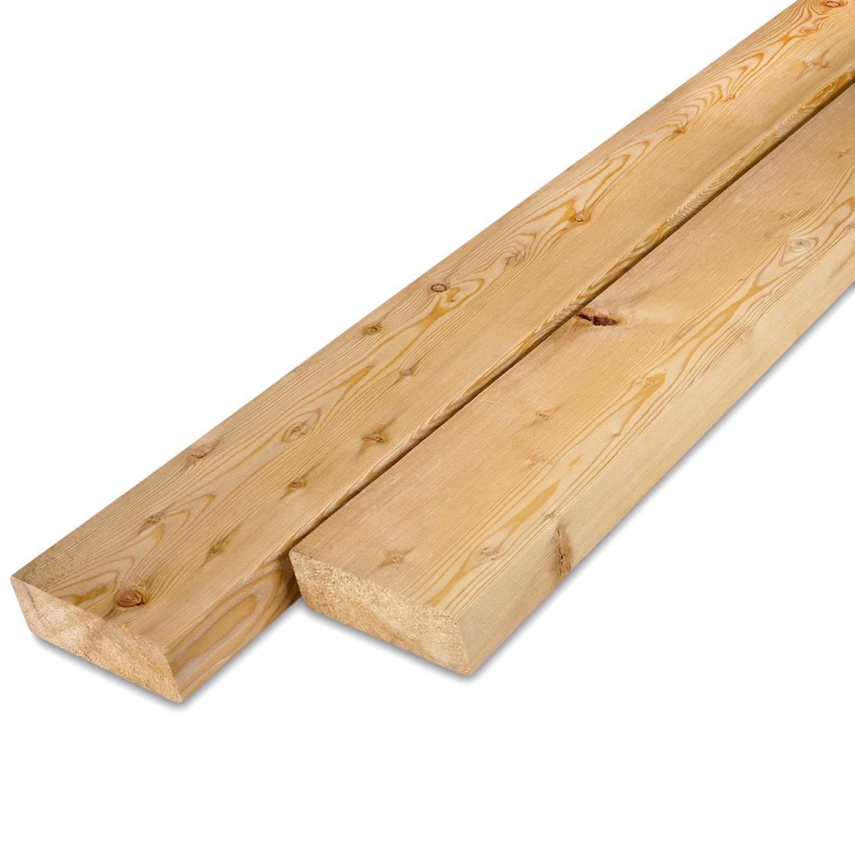 Siberisch lariks rhombus deel - profiel - plank 28x90mm -  Geschaafd en gedroogd  (kd 18-20%)