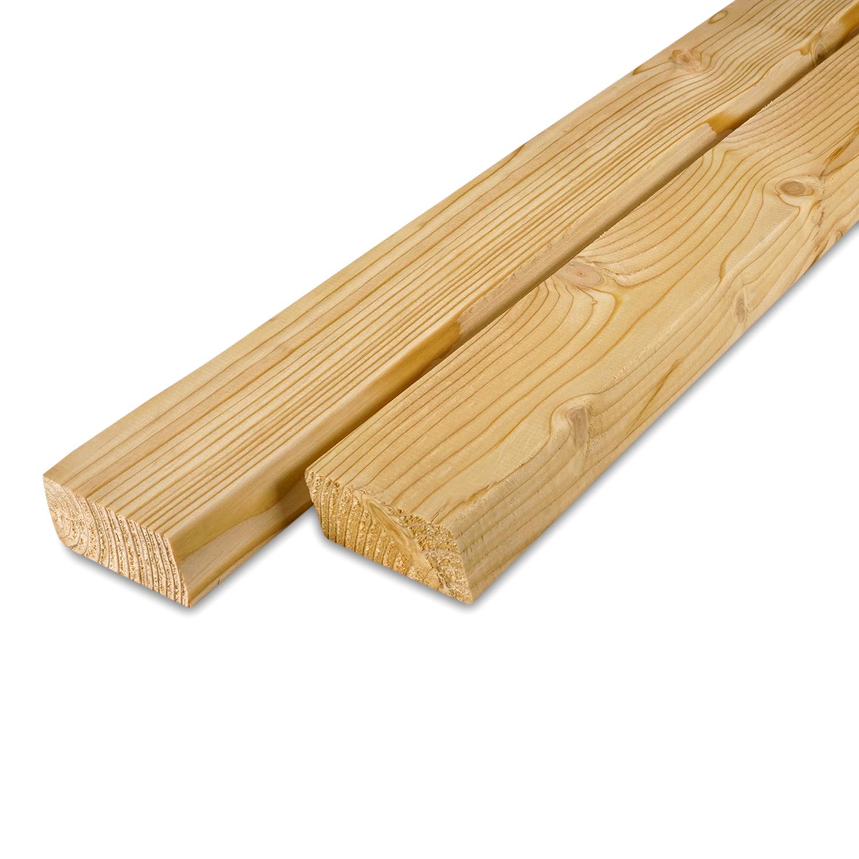 Siberisch lariks rhombus deel - profiel - plank 28x70mm -  Geschaafd en gedroogd  (kd 18-20%)