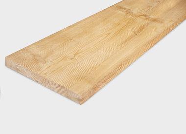Lariks planken fijnbezaagd (ruw)