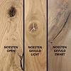 Eiken tafelblad rustiek 6 cm dik  (3-laags) geborsteld - OP MAAT - 8-12% kd Europees eikenhout