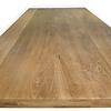 Eiken tafelblad rustiek 6 cm dik  (3-laags) -  Geborsteld en Gerookt - OP MAAT - 8-12% kd Europees eikenhout (verouderd)