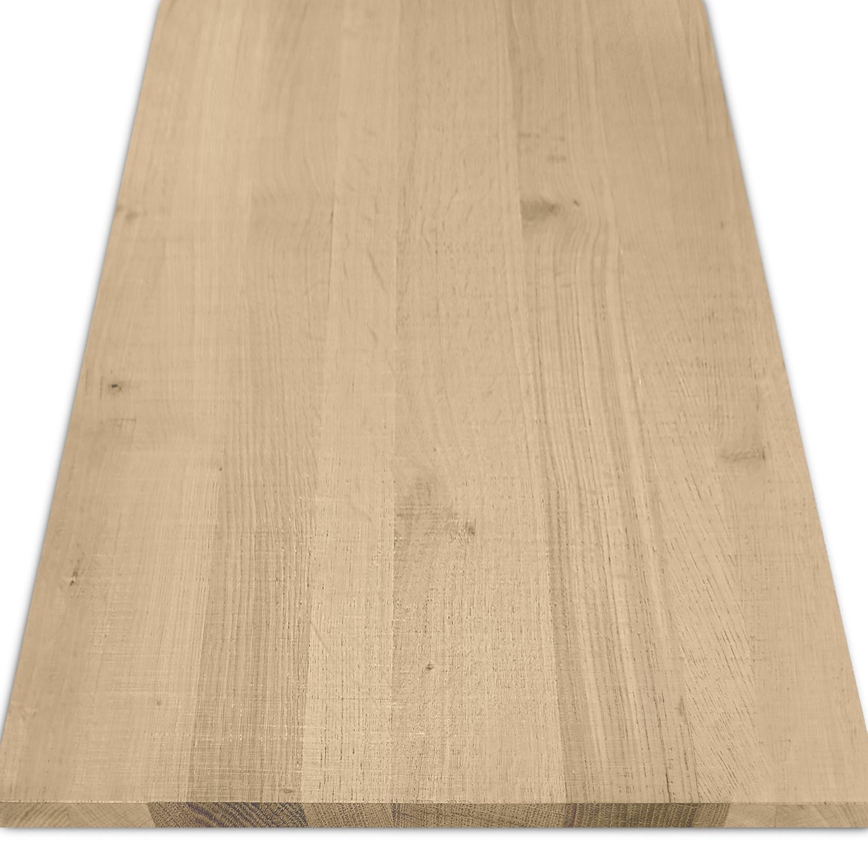 Eiken blad rustiek 2 cm dik fijnbezaagd / ruw (1 plank) OP MAAT - Meubelblad / paneel 8-12% kd Europees eikenhout