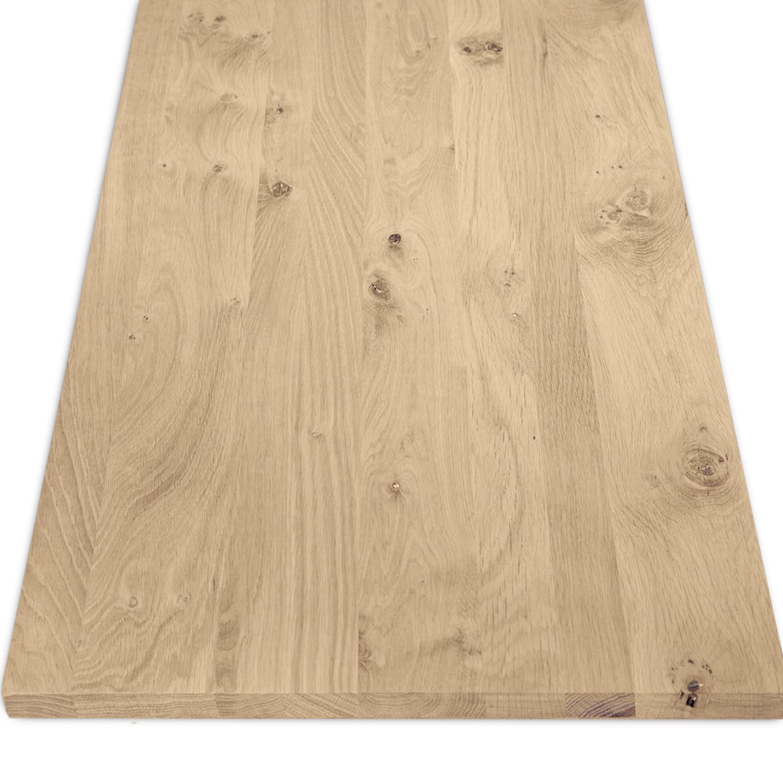 Eiken blad rustiek 2 cm dik gezandstraald (1 plank) OP MAAT - Meubelblad / paneel 8-12% kd Europees eikenhout
