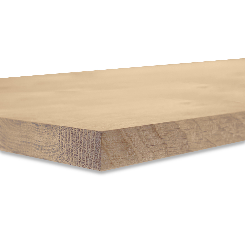 Eiken blad rustiek 4 cm dik gezandstraald (1 plank) OP MAAT - Meubelblad / paneel 8-12% kd Europees eikenhout